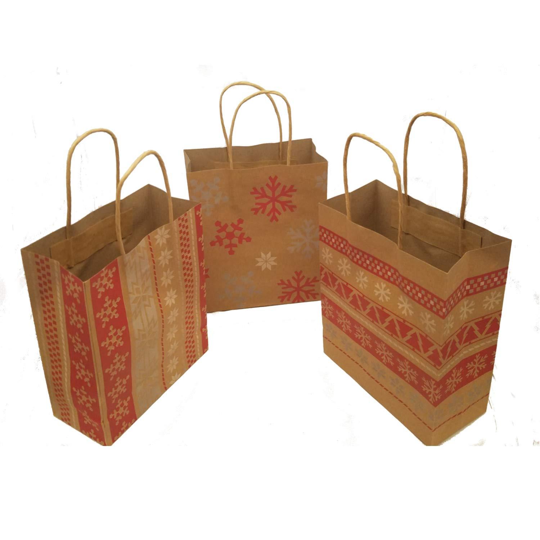 Red & White Nordic Print Craft Bags 1 Dozen - Christmas Gift Bags Fun Express 13616014