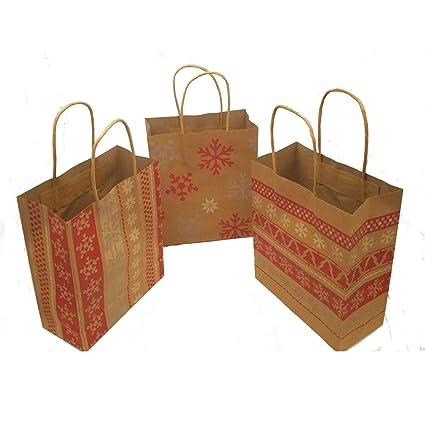 bfab39d960b7 Amazon.com  Fun Express Red   White Nordic Print Craft Bags 1 Dozen Bags   Arts