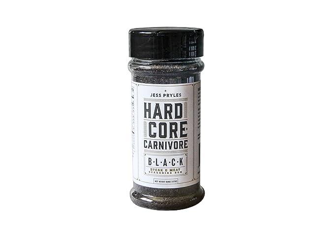 Condimento BBQ Jess Pryles Hardcore Carnivore: Black (Negro) - 227g (8 oz)
