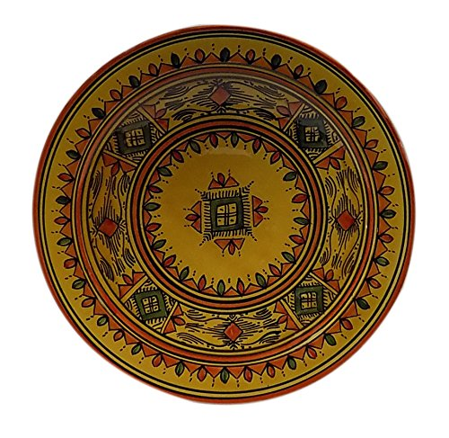 Ceramic Plates Moroccan Handmade Serving, Wall Hanging, Exquisite Colors Decorative 14 inches Diameter