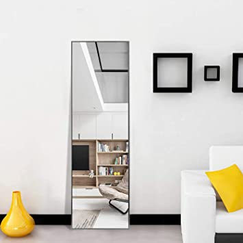 Rectangle Floor Mirror Dressing Mirror Wall-Mounted Mirror for Bedroom Bathroom Living Room,Gold Frame with No Stand,47x22 NeuType Full Length Mirror Standing Hanging or Leaning Against Wall