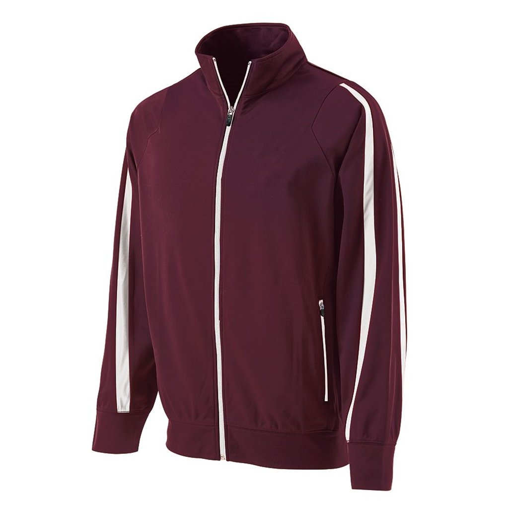 Holloway Youth Determination Jacket (X-Large, Maroon/White) by Holloway