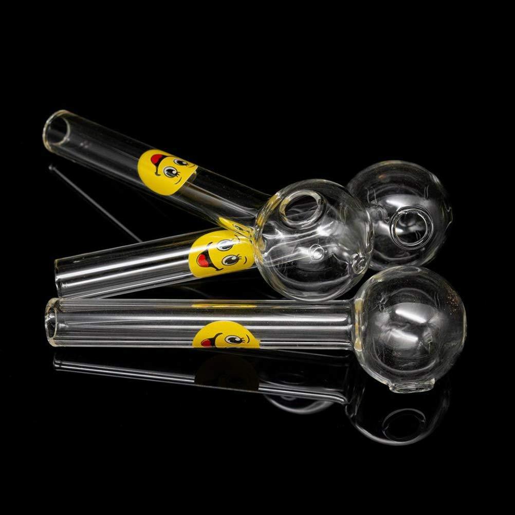 Aduben 4 Inches Length Glass Oil Burner Pipe 3pcs