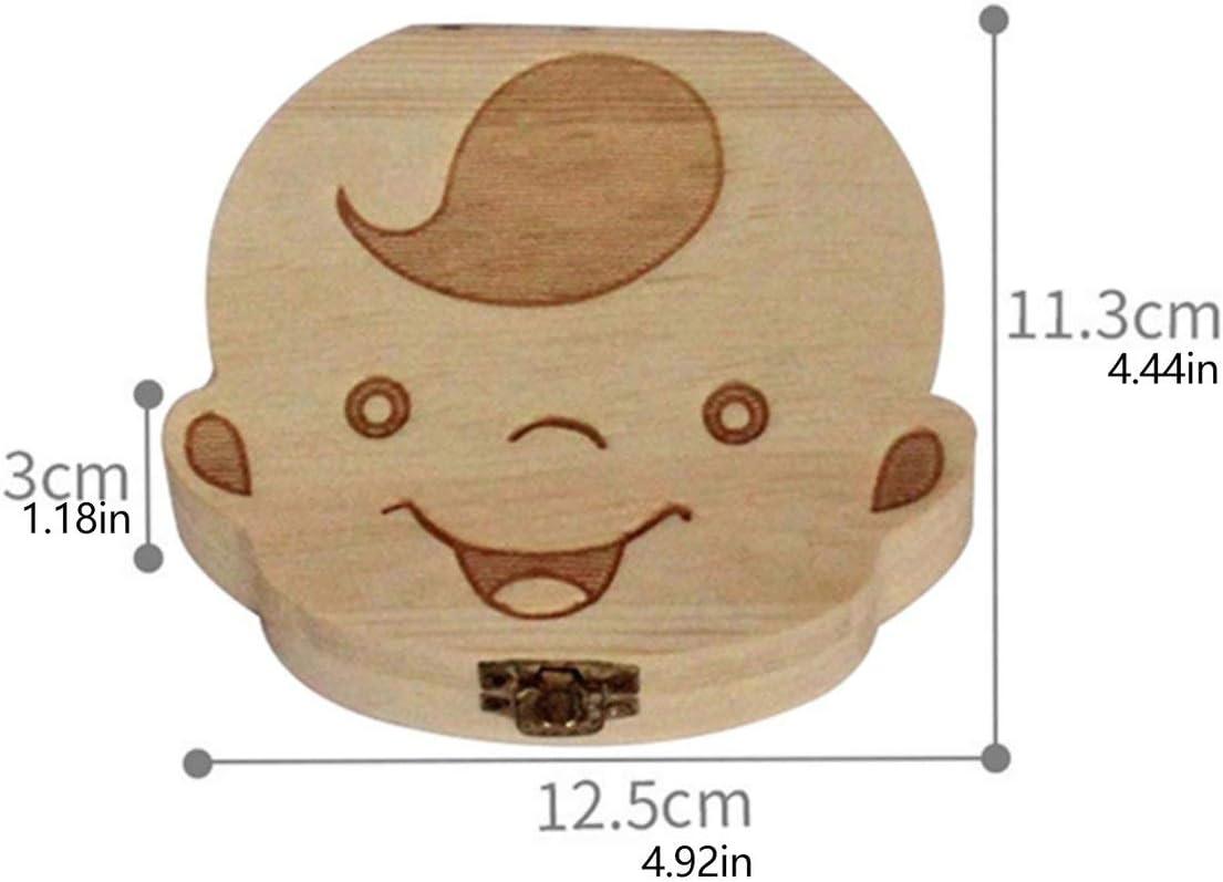 Ashley GAO Scatola portaoggetti per Bambini in Legno per Bambini Denti per Bambini Capelli fetali Cordone ombelicale Organizzatore Scatola per Souvenir per Neonati