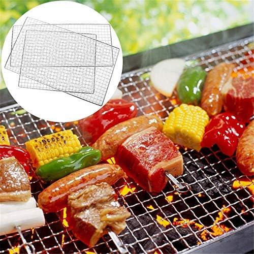 SPLLEADER 3 PCS Résistance À La Chaleur en Acier Inoxydable Barbecue Barbecue Grill Griller Fil De Filet De Cuisine en Plein Air 3 Taille Un Barbecue (Size : 19X44)