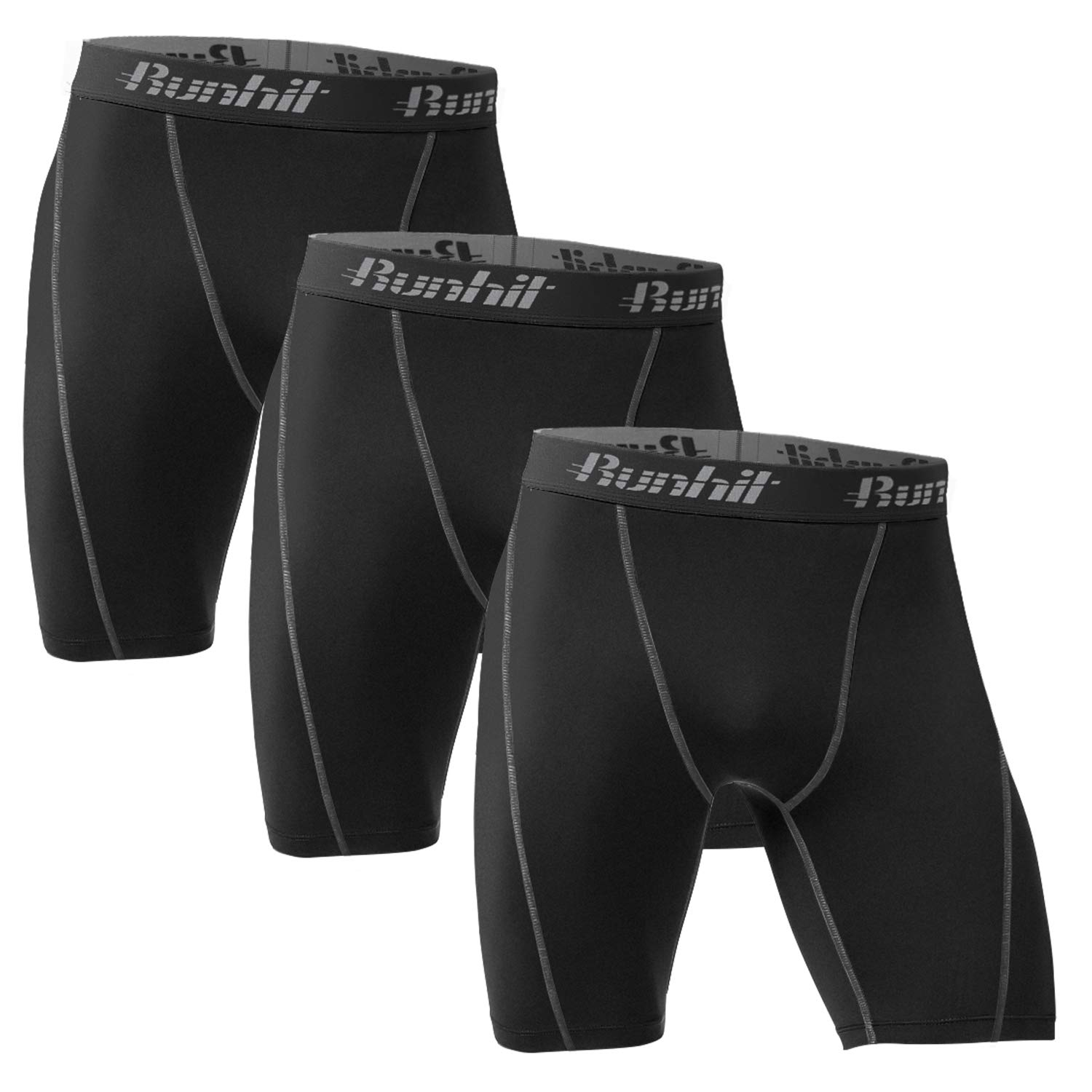 Runhit Men's Compression Shorts(3 Pack),Compression Spandex Shorts Underwear by Runhit