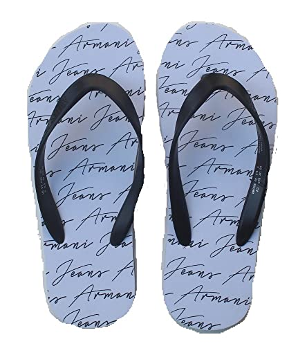 56973bd4e Emporio Armani Men s Thong Sandals White Size  6  Amazon.co.uk ...