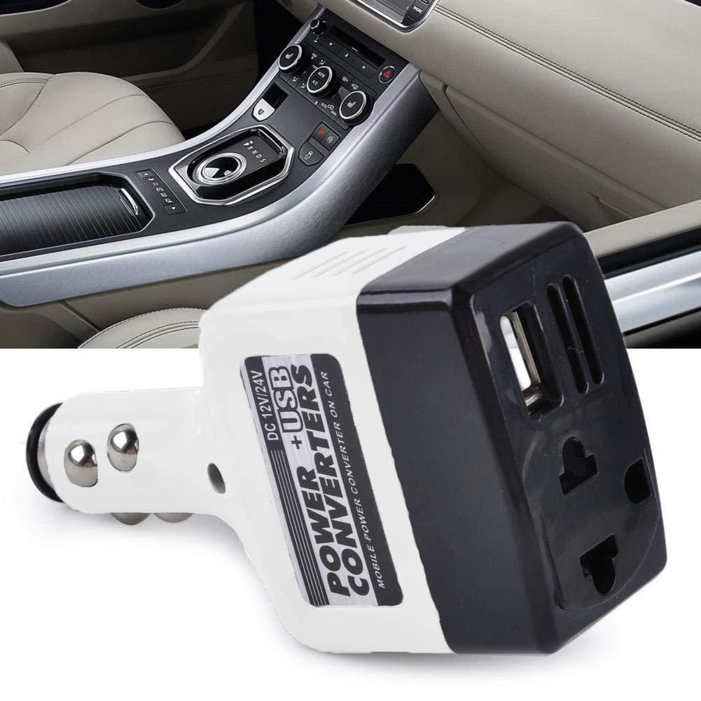 Save 10/% LIANA IRWIN Car Converter Multi-function Power Transformer Mobile Phone Charger USB Interface 12V//24V to 220V