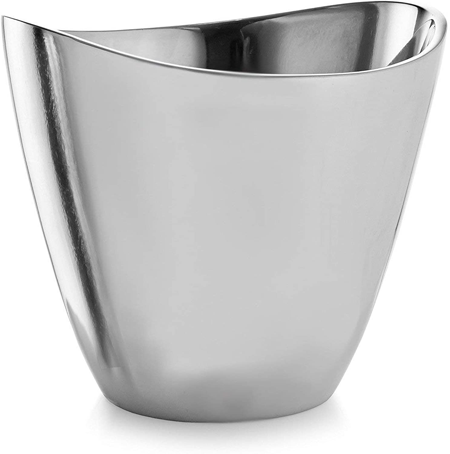 Nambe Vie Alloy Champagne Bucket 7.5 Inches High - Perfect Wedding Gift - Elegant Modern Design - Wine Cooler