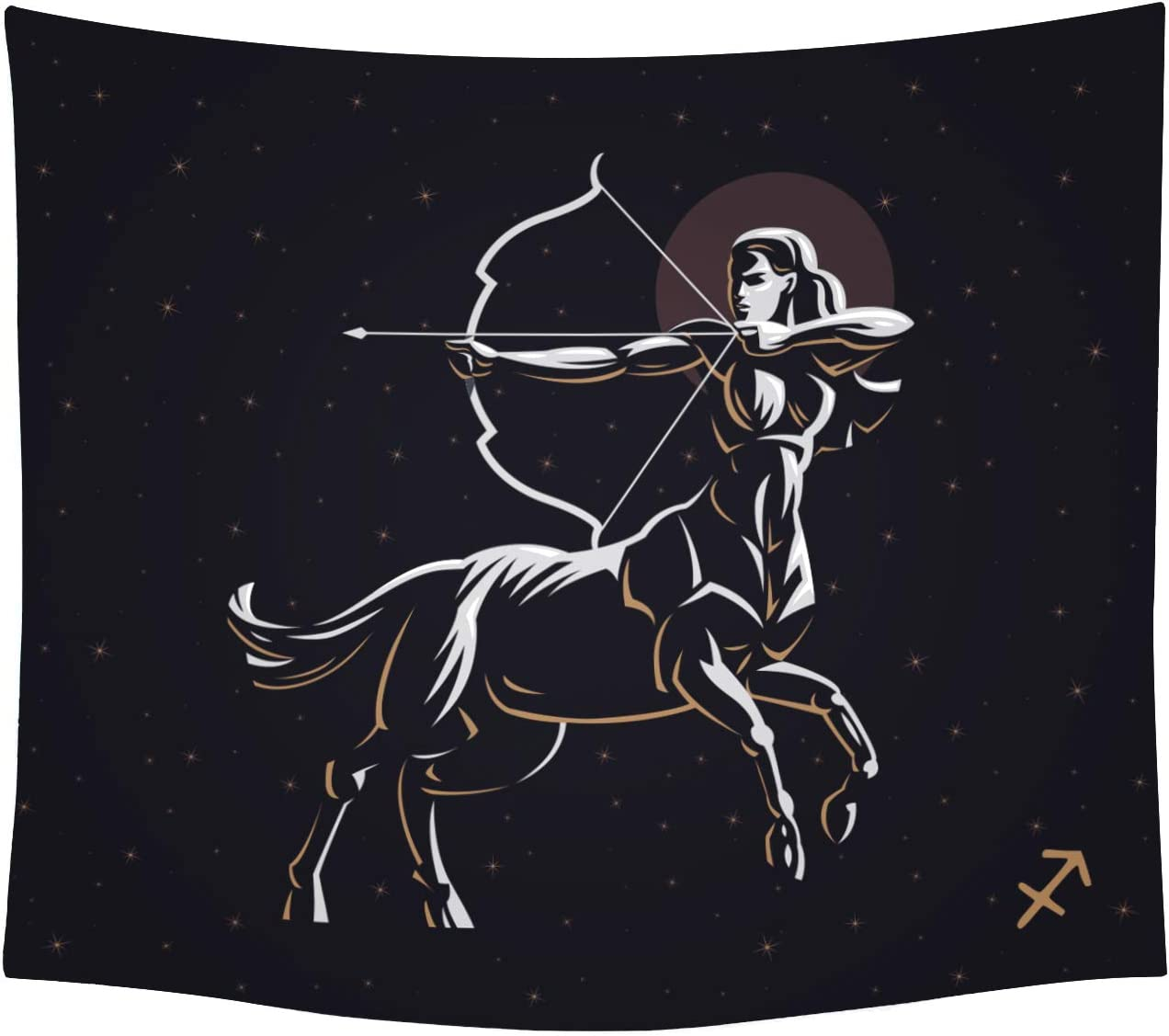THE UNIVERSAL SIGNS Astrology Horoscope Zodiac Tapestry Decor Wall Hanging Sagittarius Blanket Bedspread Beach Towels Picnic Mat Home Decor