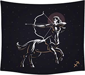 THE UNIVERSAL SIGNS Astrology Horoscope Zodiac Tapestry Decor Wall Hanging (Sagittarius) Blanket Bedspread Beach Towels Picnic Mat Home Decor