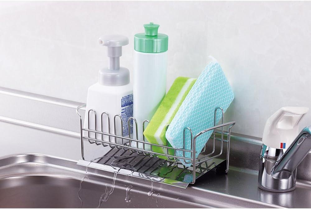 下村企販『TSUBAME 水が流れる洗剤スポンジラック』