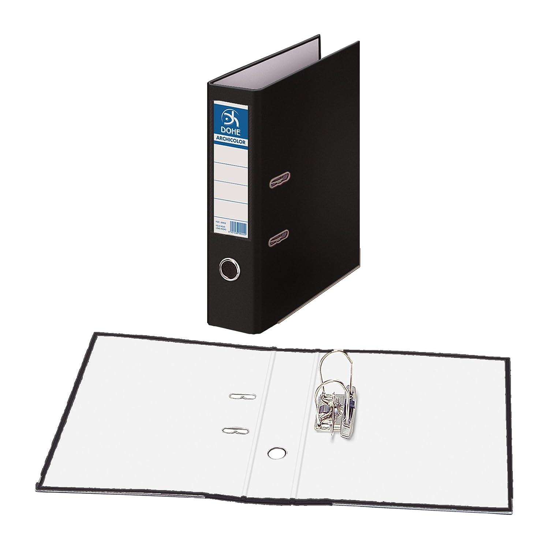 Dohe Archicolor - Archivador A4, lomo ancho, color negro: Amazon.es: Oficina y papelería