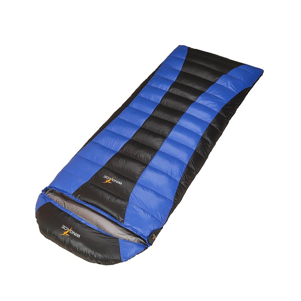 WINGACE 25度の寝袋、2500gの充填、封筒、超軽量、圧縮袋付き B01N22Z5MT S サイズ 青 青 S サイズ