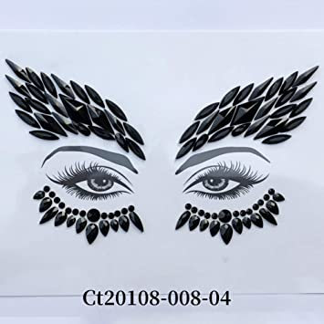 Face Jewels Stickers, Mermaid Rhinestone Temporary Tattoos Women Halloween Face Makeup Tears Tattoo Sticker Bindi