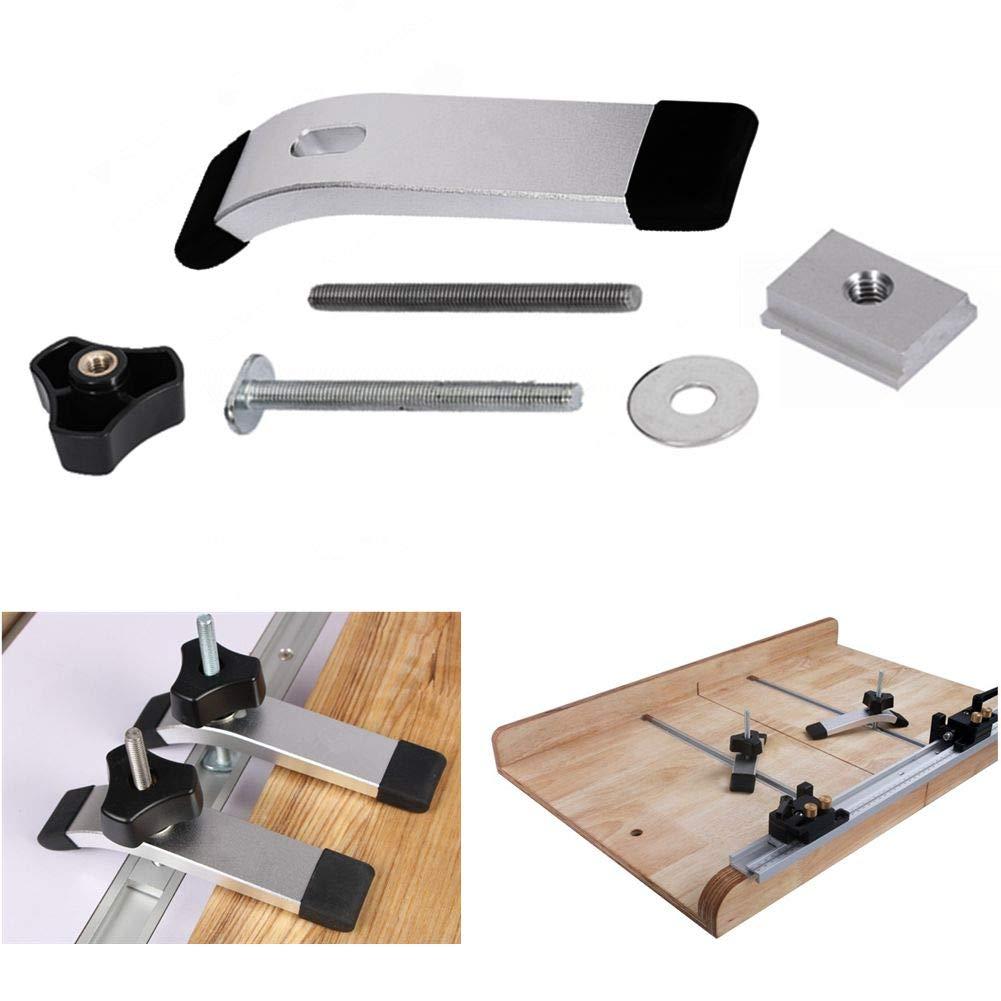 abrazadera de sujeci/ón de metal de acci/ón r/ápida para herramienta de carpinter/ía con ranura en T y ranura en T T Screw+Knob Nut Only Abrazadera de ranura en T roscada de 8 mm
