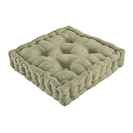 Admirable Trenton Gifts Tufted Thick Chair Pad Seat Square Boosted Pillow Cushion Ideal For Home Office School Travel 15 3 4 Squared Sage Creativecarmelina Interior Chair Design Creativecarmelinacom