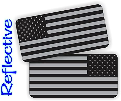 Pair - REFLECTIVE Stealthy American Flag Hard Hat Stickers | Black Ops  Decals | Tactical Gear