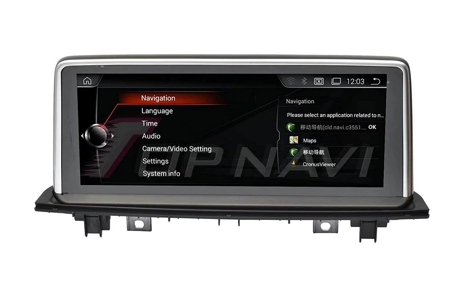 TOPNAVI Android 4.4.4 10.25inch Reproductor GPS para BMW Serie 1 ...