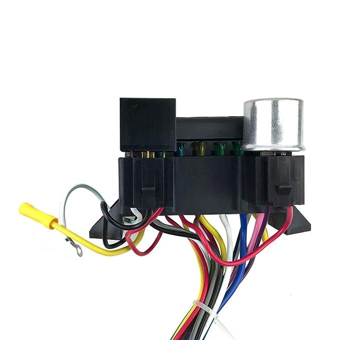 Arnés de cableado Universal de 12 circuitos para el automóvil Muscle Hot Rod Street Rod XL Cables para SI-AT52001 Cables duraderos de Ballylelly: Amazon.es: ...