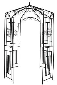 """1. GO Steel Garden Arch, 8' High x 5'2"""" Wide, Garden Arbor for Various Climbing Plant, Outdoor Garden Lawn Backyard Gazebo"""
