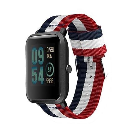 Correa de reloj con herramienta para Xiaomi Huami Amazfit Bip Youth Watch, VNEIRW Correa ajustable