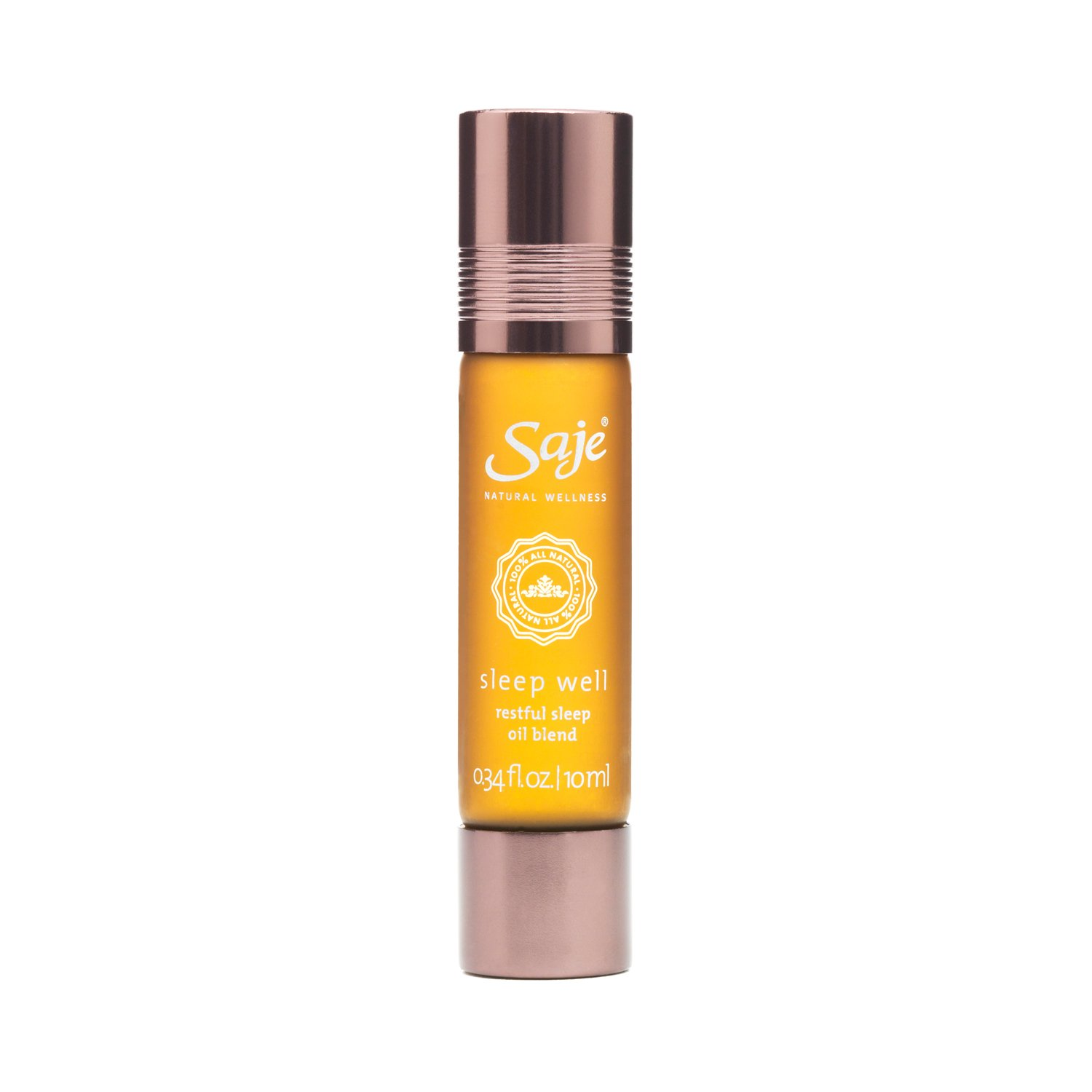 Saje Sleep Well Essential Oil Blend, Calming and Relaxing, Roll-On Application, 100% Plant-Based (0.34 fl oz)