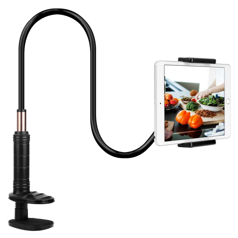 PEYOU Soporte para Tablet Cama, Soporte para Móviles Flexible, Soporte iPad con Cuello de Cisne Clip, para iPad Pro 12.9/10.5/9,iPad Mini,Nintendo Switch ...
