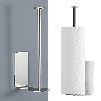 Prooal - Portarrollos de papel higiénico autoadhesivo, soporte de pared de acero inoxidable, soporte