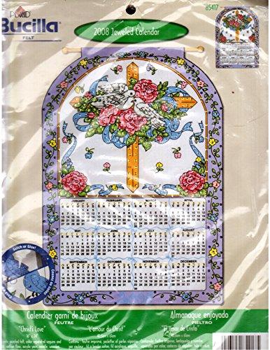 2008 Jeweled Calendar (Matches 2019-2020 days) Christ's - Jeweled Bucilla Felt Calendars