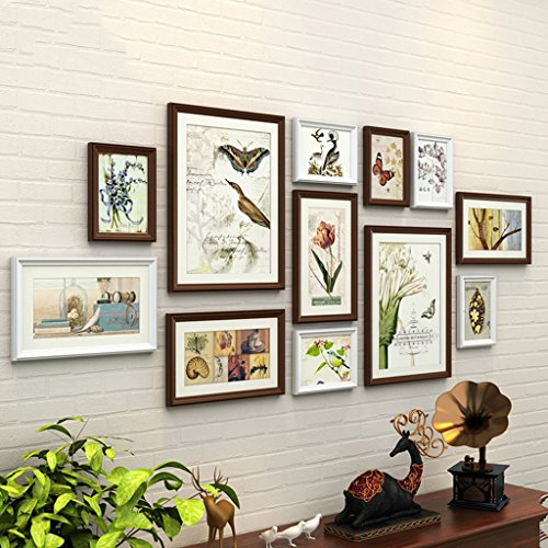 Home@Wall photo frame 12 PCS/Set Home Decoration DIY Photo Frame Sets For Wall Family Picture Frame Sets With Picture Card ( Color : #-3 ) by ZGP