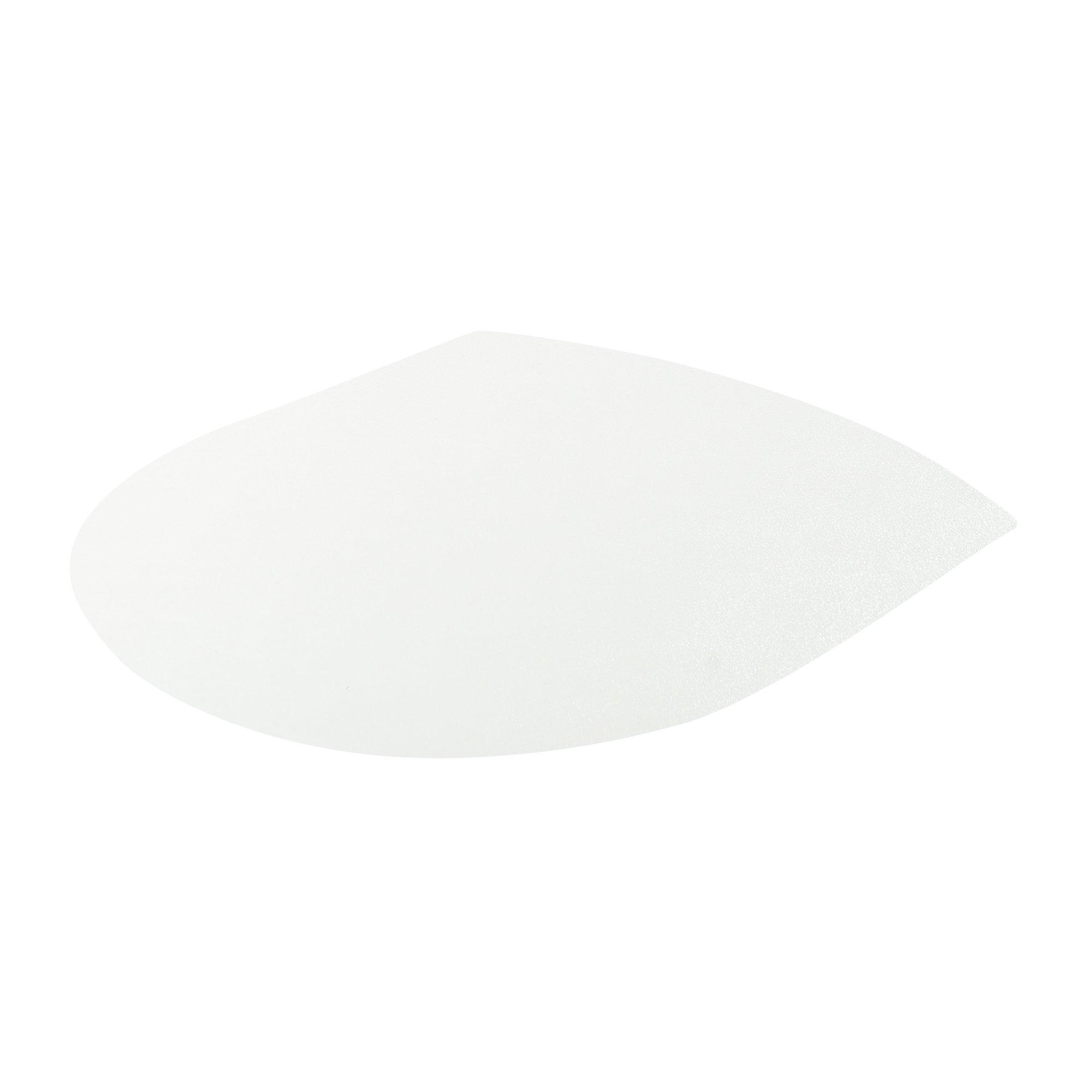 Deflecto EconoMat Clear Chair Mat, Hard Floor Use, Contour, Straight Edge, 48 x 56 Inches (CM21092I)