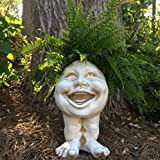 Homestyles Muggly #37115 Laughing Aunt Minnie Planter 15″ Antique White Garden Statue For Sale