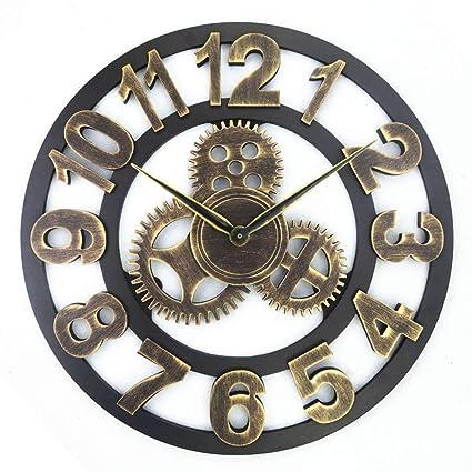 QS Americano, Europeo, Retro, Creativo, Reloj de Pared Artístico, Decoración de