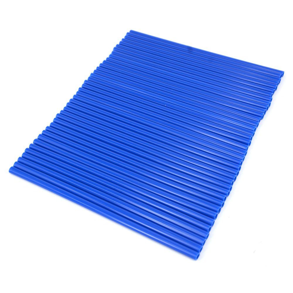 Color Azul 72 Fundas Protectoras para radios de Motocicleta de pl/ástico para Yamaha YZ 80 85 125 250 YZ125 YZ426F YZ450F WR 250F 426F 450F