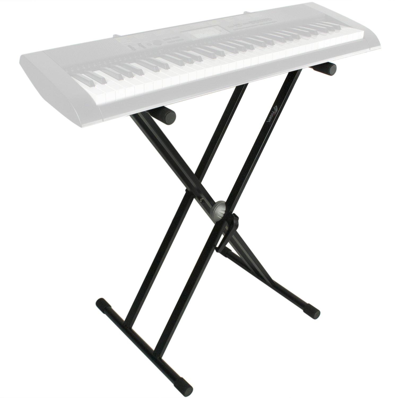 Tiger KYS16-BK Doppel-Keyboardständer mit Haltebänder - Schwarz ...
