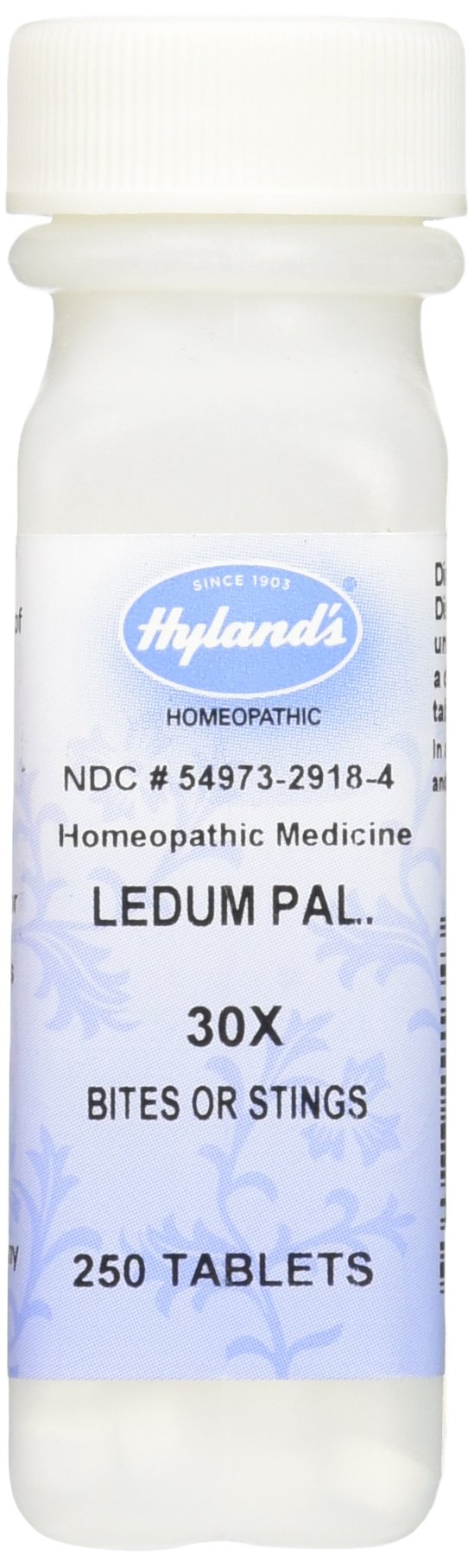 Hyland's Ledum Pal. 30X Tablets, Natural Homeopathic Bites & Stings Relief, 250 Count