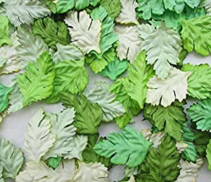 100 pcs Patch Green Leaves 37x23 mm Mulberry Paper scrapbooking wedding doll house supplies card