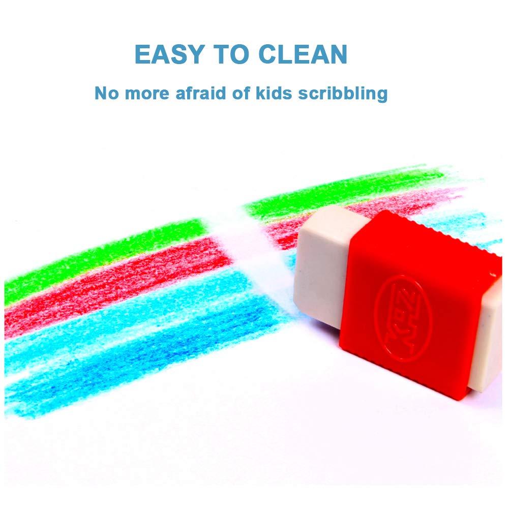 Coffre-Fort Non Toxique ANSUG Enfants Crayons De Doigt 12 Couleurs Coffret Cadeau Lavable 3D Crayons pour Enfants Graffiti Peinture Jouets Empilables