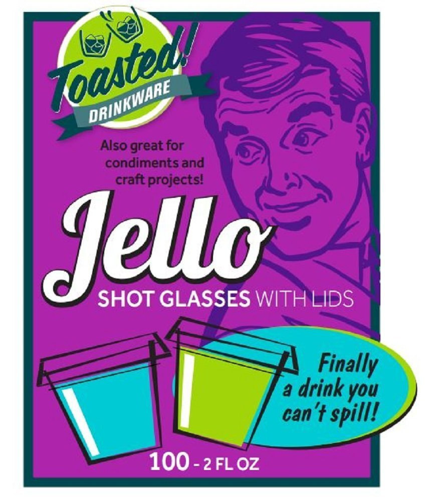 Toasted Drinkware Squeezable Plastic Clear 2 oz Jello Shot Glasses with Lids (100 Sets) Shaped Like Actual Shot Glasses! by Toasted Drinkware (Image #2)