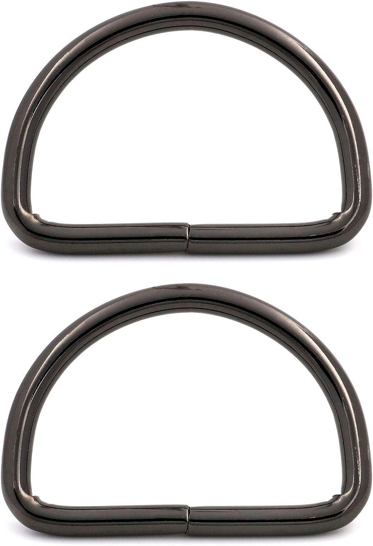 Webbing Belt Shoulder Backpack 2x1.25 Inch Inside Dimensions Pack of 10 Bag Gunmetal BIKICOCO Metal D Rings Hooks Buckle Strap Adjuster for Purse Pet Collars