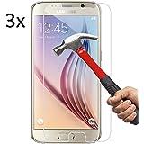 Vada-Tech | 3x bruchsicheres Panzerglas für Samsung Galaxy S6 Edge | Schutzfolie aus 9H Echtglas | Schutzglas zur Vermeidung von Displayschaden | blasenfreie Anbringung | 3 Stück