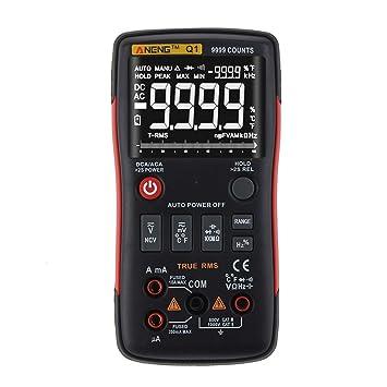 ANENG Q1 multímetro digital LCD AC DC Tensión Resistencia Corriente probador de la temperatura del detector de diodos de continuidad: Amazon.es: Bricolaje y ...