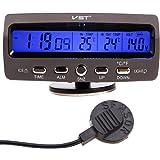 Thermomètre de la température de moniteur de l'alarme LCD/Battery de voiture