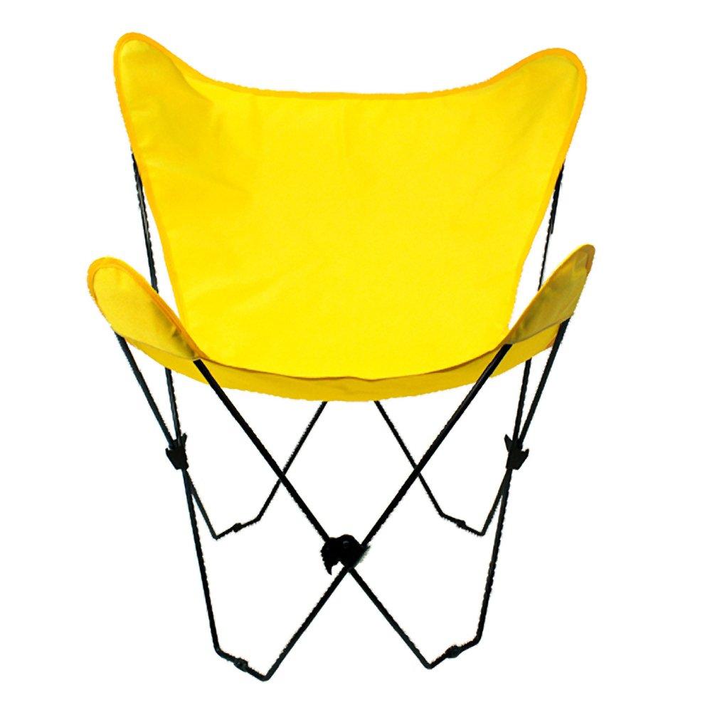 Algoma 4053-53 Butterfly Chair Black Frame, Sunny Gold
