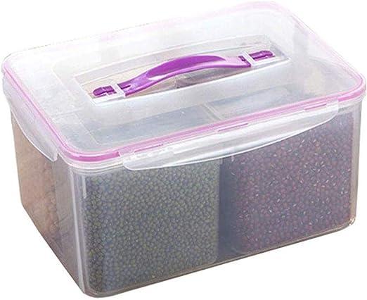 GYJ Rice Box fraccionales latas Selladas Frigorífico Caja portátil ...