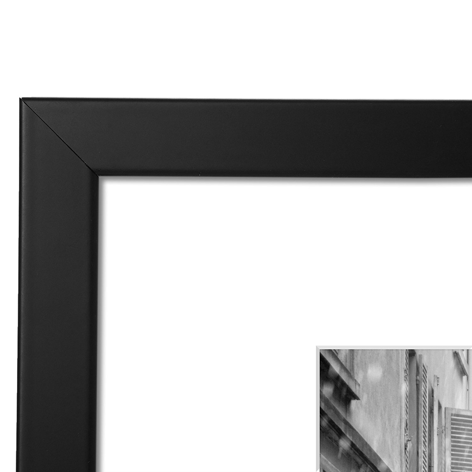 Americanflat 2 Pack - 11x14 Black Picture Frames - Made to Display Pictures 8x10 with Mats or 11x14 Without Mats - Wide Moldings by Americanflat (Image #3)