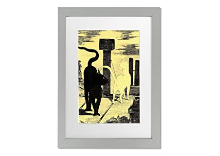 Living Colors Classic Artists Rendevouz Of Cats By Manet A3 Framed ...