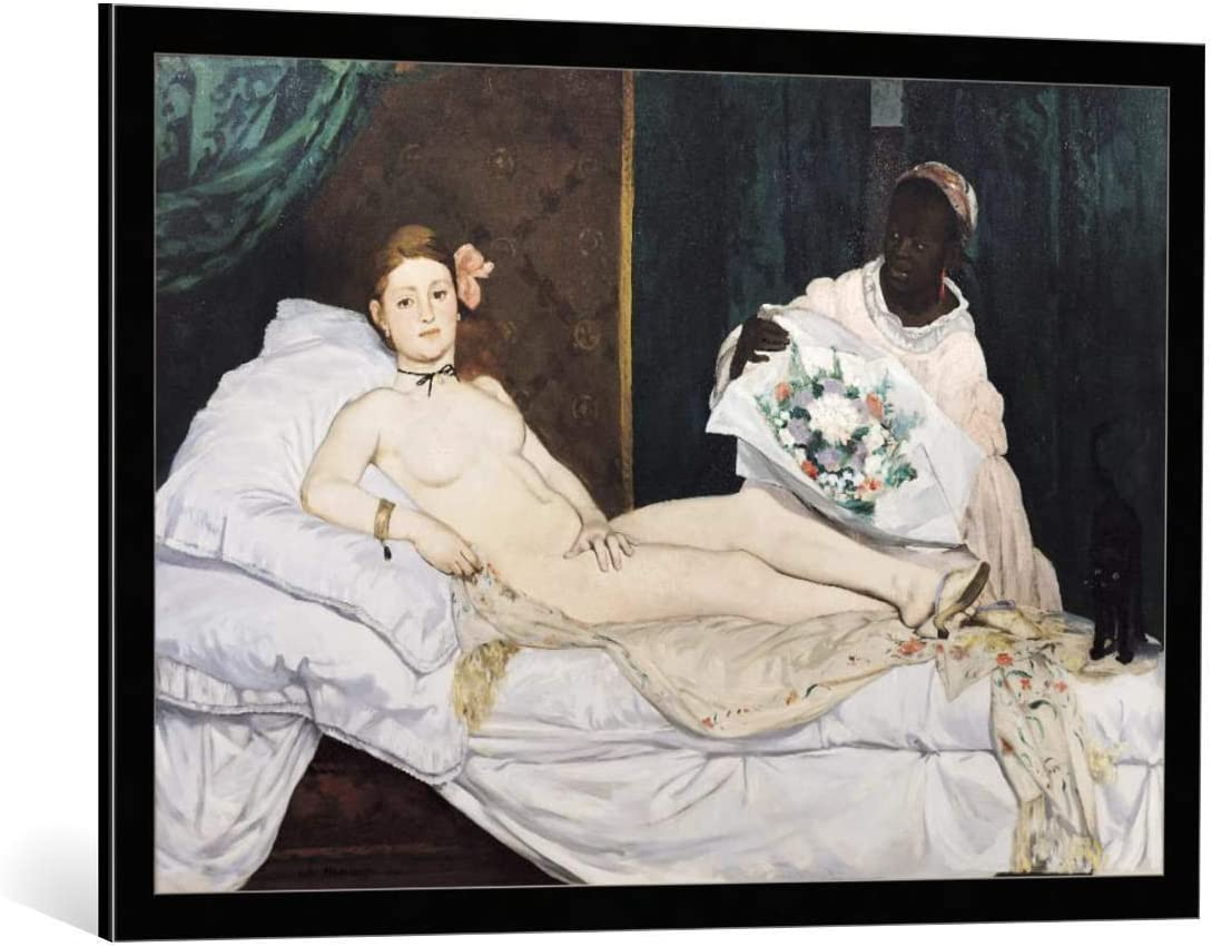 Kunst für Alle Cuadro con Marco: Edouard Manet Olympia 1863