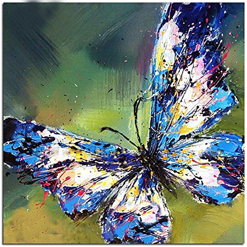 Mobicus 5D DIY Diamond Painting,by Number Kits Crafts & Sewing Cross Stitch,Wall Stickers for Living Room Decoration,Butterfly(14X14inch/35X35CM)